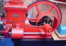 12c, Frede Jakobsen i Struer har for år tilbage renoveret en Holstebro Motor, som er forbilledet for en Tysk Modelbygger! Foto; KS i 2007