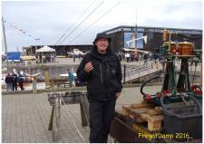 """1a, Leif """"Salle"""" Nielsen, Maribo med Dampmaskinen til Veteranskibet Frigge! Fotos, Ks den 13. august – Fregatdampstævne i Ebeltoft."""