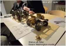 """4a, Peter Esser bygger et Damplokomotiv """"Wasinton – model"""" - set på et Øst møde! Foto; Jesper Hansen"""