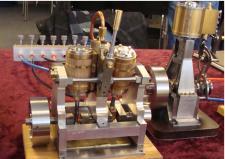 4f, En tocylindret occilerende Dampmaskine – bygget af Ejner Skovgaard Ørum Djurs! Ks, Medlemsmøde i Risskov den 25. januar 2014.
