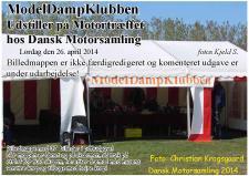 4m, ModelDampKlubben udstillede  til Motortræffet  hos Dansk Motorsamling i Grenaa! Foto; Christian Krogsgaard, Nibe den 26. april 2014