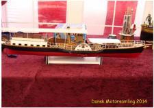 5g, En model af Dampskibet Hjejlen, som sejler på Silkeborgsøerne, bygget Modelskibsbyggeren Chriatian Krogsgaard i Nibe! Ks, den 26 april hos Dansk Motorsamling