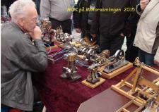 5k, Ejner Skovgaard, Ørum Djurs med mindst 9 af sine Dampmaskinemodeller! Foto Ks – Motorsamlingen i Grenaa den 25. april 2015