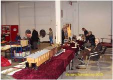 5o, Et udsnit fra ModelDampKlubbens udstilling forud for generalforsamlingen i 2015. Foto Ks; Udstilling før generalforsamling på Jernbanemuseet den 21. marts 2015