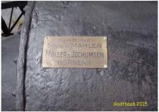 6i, Hammerværkets vandturbine er fremstillet hos Møller og Jocumsen i Horsens og installeret i 1931 – den kører altså endnu lejlighedsvis!