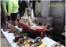 6n, Jan Jerup, Hals har er bygmester for slæbebåden ALBA – Jan her en fortid som skibsfører på båden i Ålborg!  Foto; Ks den 31. maj – GODTHAAB HAMMERVÆRK, Svenstrup ved Aalborg