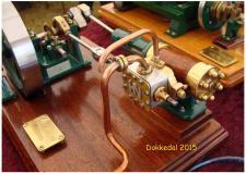 9a, Smukke modeller af fungerende Dampmaskiner af modelbygger Henry Nielsen, Thisted! Foto; Ks – Dokkedal den 11. juli 2015